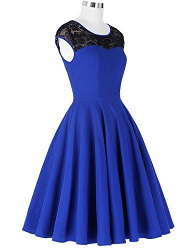 Damen festliche kleider petticoat kleid 50er jahre L BP236-2 - 4