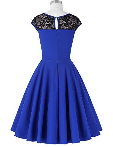 Damen festliche kleider petticoat kleid 50er jahre L BP236-2 - 2
