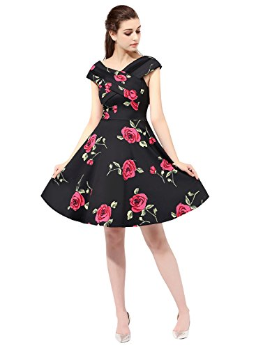 Find Dress 50er Jahre Vintage-Kleid Retro Audrey Hepburn Rockabilly Kleid