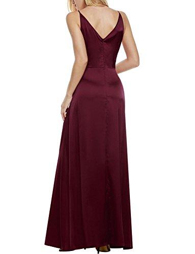 detailing 96f7d 1adcf ANGVNS Damen Elegant Cocktailkleid V-Ausschnitt Rückenfrei Abendkleid Lang  Party Ballkleid