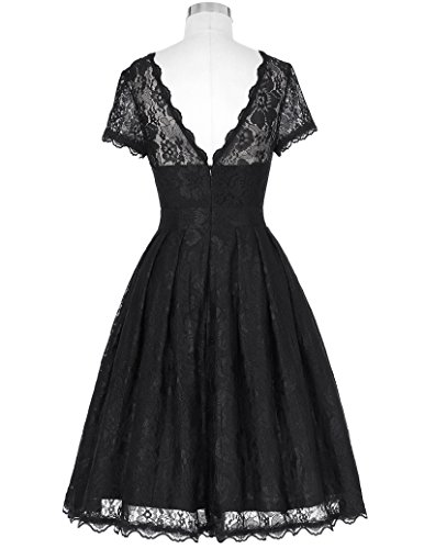 ᐅ Vintage Retro Petticoat-Kleid Festliche Kleid Lace Kleid