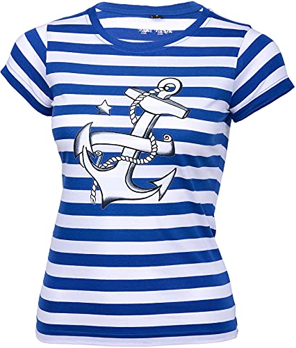 Küstenluder STRIPED Sailor ANKER Girlie 50s Shirt Matrosen Rockabilly