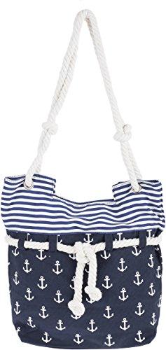 Küstenluder ALENA Sailor ANCHOR Anker Nautical Canvas SHOPPER Bag Rockabilly