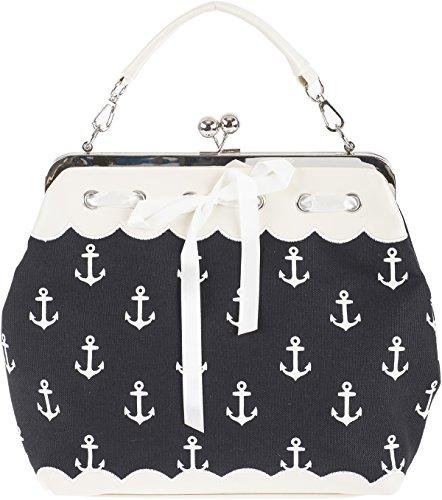 Küstenluder DALENE Sailor Anchor ANKER Kisslock Pin Up Handtasche Rockabilly