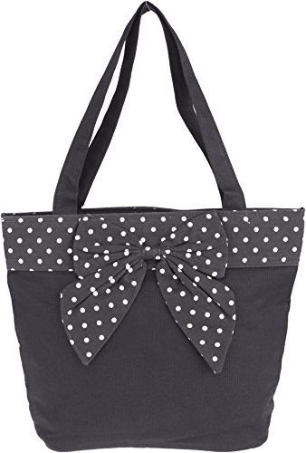 Küstenluder NYLAH Vintage POLKA DOTS Bow Ribbon TASCHE Shopper Rockabilly