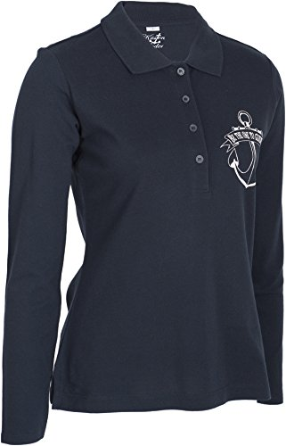 Küstenluder BE THE ONE TO GUIDE ME Mermaid Anker Sailor Langarm POLO-SHIRT Rock -