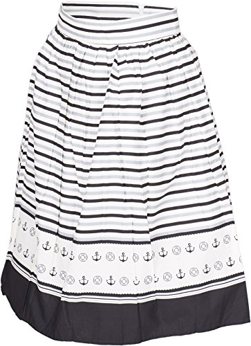 Küstenluder ROBBIN Sailor Streifen ANCHOR Anker Vintage SWING SKIRT Rock Rockab -