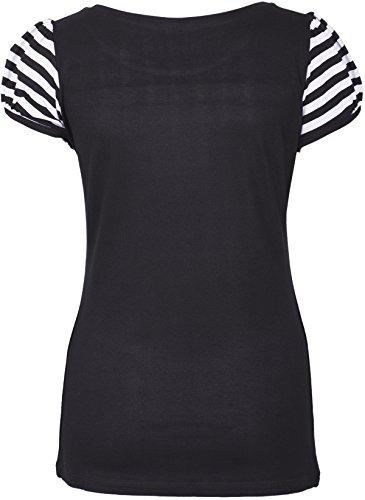 Küstenluder MY ANCHOR Anker Rosen Sailor Striped Sleeve Motiv SHIRT Rockabilly -
