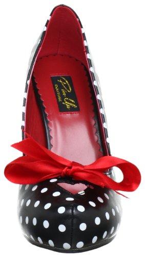 532796481b6b82 Pleaser PinUp Couture CUTIEPIE-06 Damen Pumps, Schwarz (Blk-wht pu (