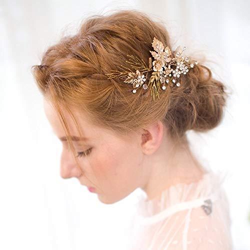 ᐅ Vintage Gold Zweig Haar Klipp Brautoberteil Hochzeit Accessories