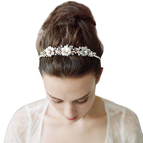 ᐅ Butterme Braut Vintage Blumen Kristall Strass Stirnband Stirnband