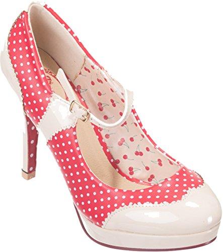 Dancing Days MARY JANE Polka Dots Riemchen Vintage Pumps High Heels Rockabilly