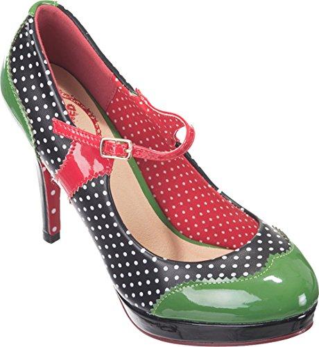 e451657cd2bbb1 Dancing Days MARY JANE Polka Dots Riemchen HIGH HEELS Pumps Rockabilly ...