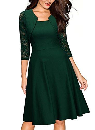 ᐅ Miusol Damen Abendkleid Elegant Cocktailkleid Vintage Kleider 3/4 ...