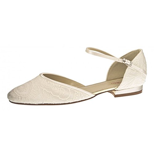 Rainbow Club Brautschuhe Elenor Ivory Satin / Vintage Lace (Bliss) (9)