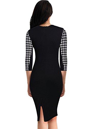 ᐅ Miusol Kleid Mit 3/4-Arm Hahnentritt Muster mit ...