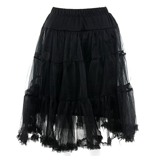 Banned Langer Petticoat (Schwarz) – Small - 2
