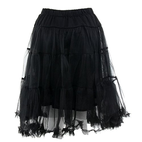 Banned Langer Petticoat (Schwarz) – Small - 3