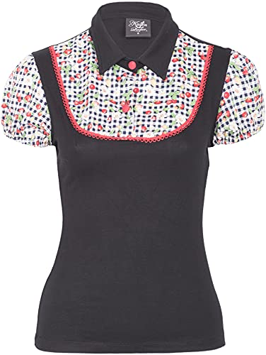 Küstenluder CALLIE Strawberry SCOT 50s Pin Up Blusen SHIRT Rockabilly