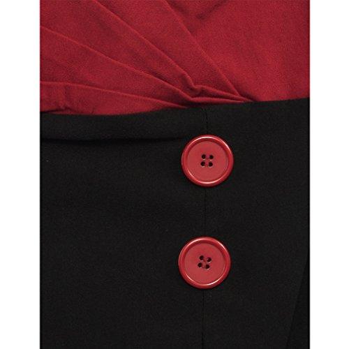 Vintage 50er Jahre Bleistiftkleid – Set Sail Diva Dress Rot - 4
