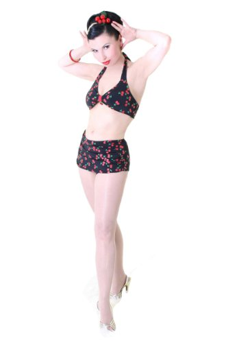 SugarShock Pin Up retro Kirschen Bikini Rockabilly