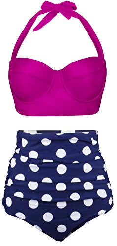 EasyMy Polka Two Piece Swimsuit Beachwear Bathing Suits