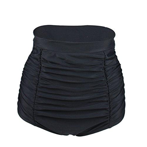 Gigileer Elegante / Figurumspielende / Minimizer Bikini Hose / High Waist Bikinihose / Slip Schwarz M