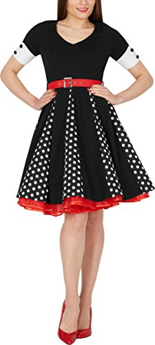 BlackButterfly 'Kelly' Vintage Polka-Dots Swingkleid