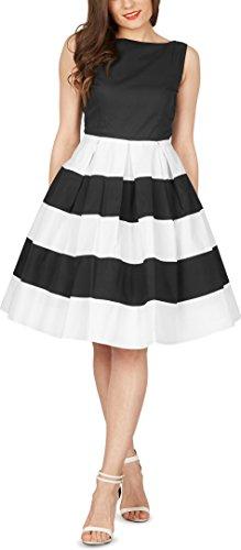 BlackButterfly 'Lilly' Vintage Gestreift Kleid im 50er-Jahre-Stil