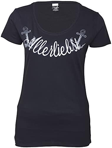 Küstenluder ALLERLIEBST Anker Sailor T-Shirt Rockabilly