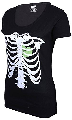 Küstenluder Punk ZOMBIE HEART Bones KNOCHEN Shirt Rockabilly -