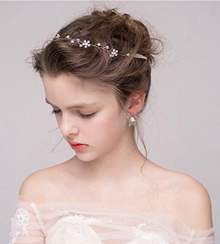 ᐅ Dayiss Suss Braut Haarschmuck Blumen Diademe Mit Kristall Perlen