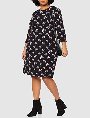 GERRY WEBER Damen Kleid Vintage Flower Mehrfarbig (Indigo/ Merlot/Elfenbein 8144), 44 - 2