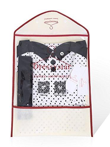 Dressystar Vintage Tupfen Retro Cocktail Abschlussball Kleider 50er 60er Rockabilly Neckholder Weiß XL - 8