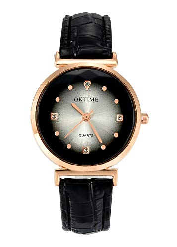 JSDDE Uhren Vintage Wickelarmband Damen Armbanduhr Lederarmband Bronze Herz Anhänger Holzperlen Analog Quarz Uhr, Dunkelbraun