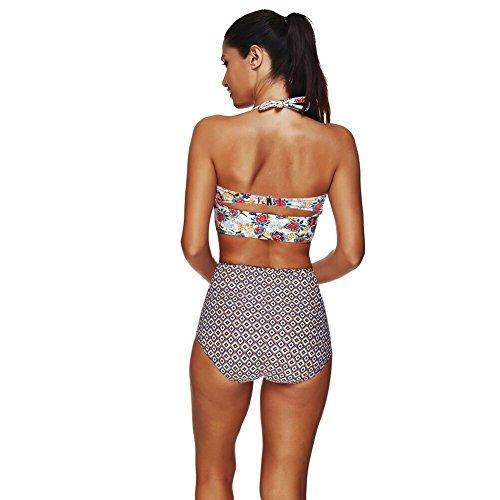 c7918ef4caa1b FeelinGirl Damen Elegant Bikini-Sets Neckholder Push-Up Bademode Zweiteilig  Strandmode 3XL - 4