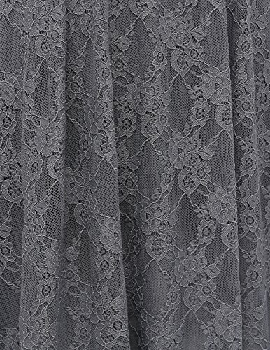 Bbonlinedress Damen Retro Vintage 1950er Rockabilly Cocktail Spitzenkleid Grey 2XL - 6