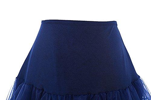 bbonlinedress Organza 50s Vintage Rockabilly Petticoat Underskirt Navy S - 3