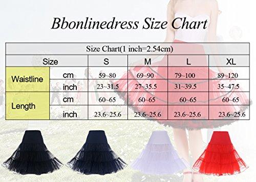 bbonlinedress Organza 50s Vintage Rockabilly Petticoat Underskirt Navy S - 6