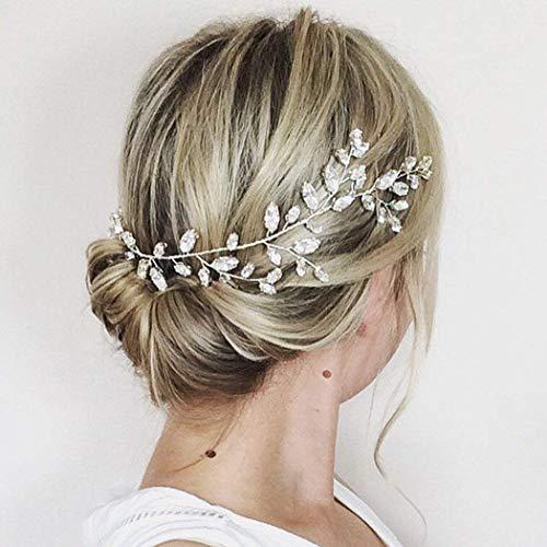 Aukmla Krone für Brautjungfern und Blumenmädchen, Hochzeit, mit Swarovskikristallen, Haarschmuck, funkelnd, Haarkranz