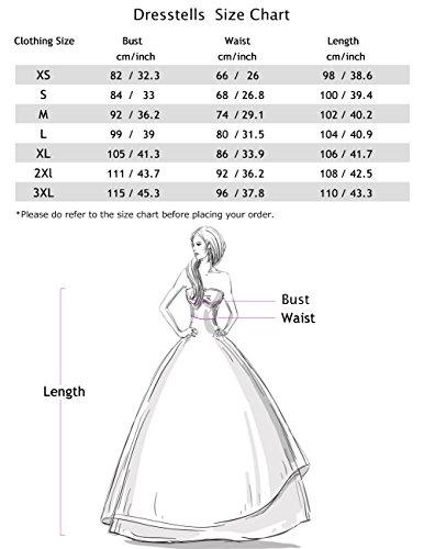 Dresstells Damen Vintage 50er Rockabilly Kurzarm Swing Kleider Partykleid Pink L - 7
