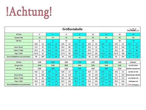 Dresstells Damen Kurz Gipüre Neckholder Ballkleid Homecoming Kleider Grün Übergröße 44W - 7