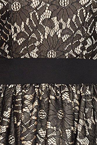 Belsira Damen Vintage-Spitzenkleid im Retro Look M - 5