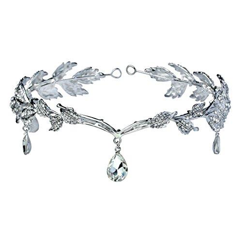 Babeyond Braut Stirnband mit Rhinestone Brautjungfer Haarband österreichisches Kristall Silber Hochzeit Accessoires für Damen
