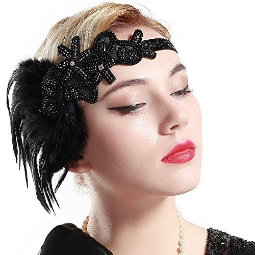 babeyond 1920s feder stirnband retro 20er jahre haarband. Black Bedroom Furniture Sets. Home Design Ideas