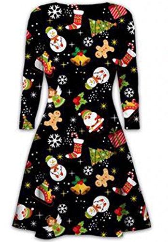 Weihnachtskleid // Klied Santa Christmas Xmas Printed