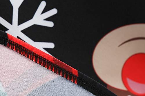 Weihnachten Kleider Damen UFODB Frauen Weihnachtskleid Kleid Swing Taille Slim Cocktailkleid Retro Schwingen Party Partykleid Festlich Christmas Dress - 4