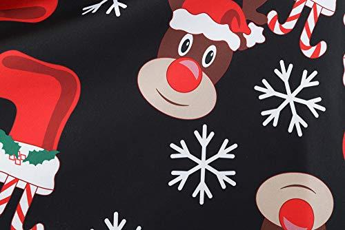 Weihnachten Kleider Damen UFODB Frauen Weihnachtskleid Kleid Swing Taille Slim Cocktailkleid Retro Schwingen Party Partykleid Festlich Christmas Dress - 6