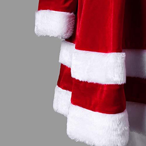 Weihnachtskleid Elegant // Plüschkante Rundhals - 3