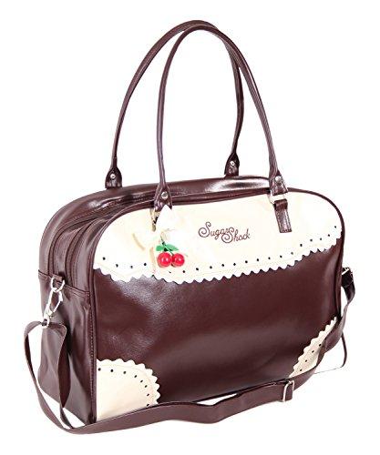 SugarShock Auro Budapester Shopper Handtasche, Farbe:braun